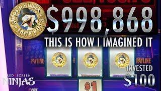 VGT SLOTS - CRAZY CHERRY PROGRESSIVE $985,868.16 - 3 DUCKS SYMBOL JACKPOT CLICKBAIT!!!