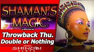 Shaman's Magic Slot - TBT Double or Nothing, Live Play