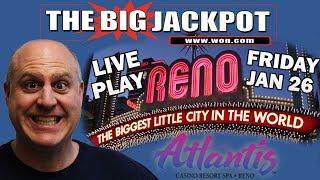 • Live from Atlantis Casino and Resort in Reno• Mega Jackpot Time•