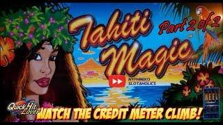 Tahiti Magic Slot Bonuses & Line Hits! BIG WINS Continue!! Part 2