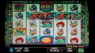 Crazy Stinkin Rich bonus round multi re-trigger Jackpot!
