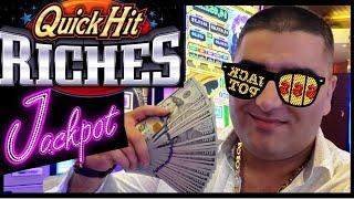 High Limit QUICK HIT RICHES Slot HANDPAY JACKPOT !! High Limit Slots Play at Harrah's CASINO