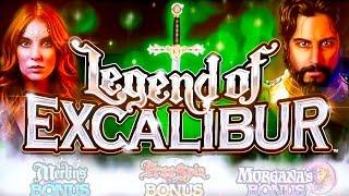 Legend of Excalibur Slot - NICE SESSION, ALL FEATURES!