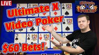 Late Night Video Poker - Ultimate X - 3 Hand Double Double Bonus