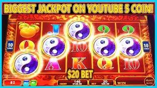 BIGGEST JACKPOT ON YOUTUBE FOR A RARE 5 COIN TRIGGER BONUS