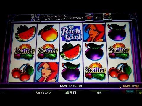 Rich Girl Slot $45 Max Bet Live Play - Scatter Bonus Plus Some Decent Line Hits!