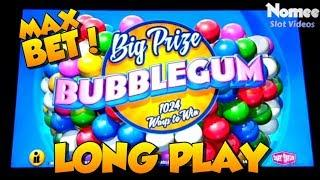 BIG PRIZE BUBBLEGUM Slot Machine - Max Bet Long Play with Features