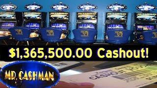 •$1,365,500.00 MILLION Cashout! Video Slot Machine Jackpot Handpay African Dusk, Jail Bird, • SiX Sl