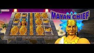 SUPER BIG BONUS! 5c denom Konami Mayan Chief slot machine Free Spin Bonus