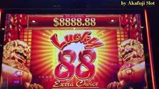 NEW LUCKY 88 Slot Machine BIG WIN Bonus Bet $5 at Barona Casino