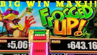 BIG WIN!! NEW GAME •FROGGED UP•MAXI PROGRESSIVE• FREE SPIN