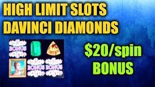 Davinci Diamonds HIGH LIMIT SLOTS w/Bonus Round