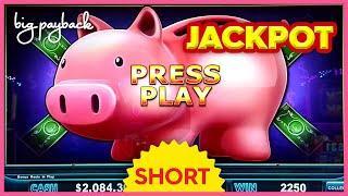MY BIGGEST JACKPOT! on Lock It Link Piggy Bankin' Slot - INCREDIBLE!! #Shorts