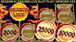 New Dragon Link Peace & Long Life Slot Machine Max Bet Bonus Won | Season 9 | Episode #25
