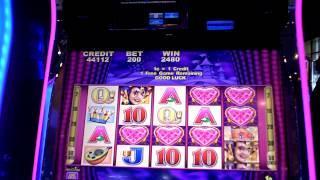 Slot bonus win on Harlequin Hearts at Sugar House