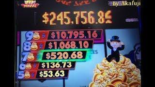 BIG WIN MONOPOLY MONEY Dollar Slot Machine Max Bet $5 Start Free Play $120 at San Manuel Casino