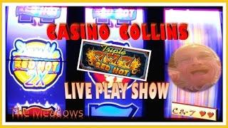 •LIVE PLAY 25c Triple Double Red Hot • Can CASINO COLLINS Double?? ~ IGT•