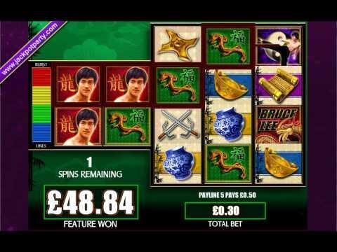 £82 MEGA BIG WIN (273 X STAKE) BRUCE LEE™ BIG WIN SLOTS AT JACKPOT PARTY