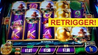 MAJOR PROGRESSIVE! Quick Fire Jackpots - $7.50 Max Bet - BONUS RETRIGGER!
