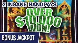 ⋆ Slots ⋆ 2 INSANE HANDPAYS!!! ⋆ Slots ⋆ Over $10,000 WON Playing SLOTS on the Las Vegas Strip