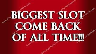 •BIGGEST SLOT COMEBACK OF ALL TIME!!!  JACKPOT HANDPAY HD CASINO SLOT VIDEO | SiX Slot | SiX Slot •