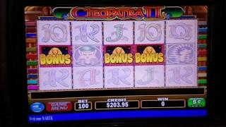 Cleopatra 2 Slot Machine Bonus Win  $5 Max  Bet