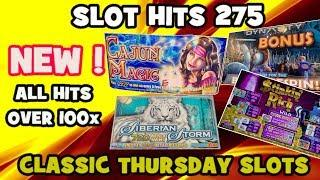 Slot Hits 275: All •️NEW •️ HITS over 100x - Classic Thursday Slots !