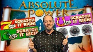 NEW! *Scratch it Rich* *Absolute Power* Have you played These? By Incredible Technologies