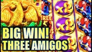 •THREE AMIGOS BIG WIN!! • WE RIDE! • W/ KING KONG MAX BET! Slot Machine Bonus (Ainsworth)