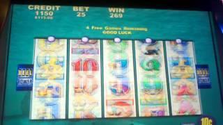 Aristocrat Whales of Cash 10c Denom Free spin bonus
