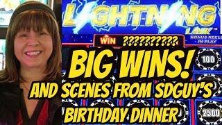 HIGH LIMIT! FREE PLAY! BIG WINS LIGHTNING LINK & SDGUY'S B-DAY