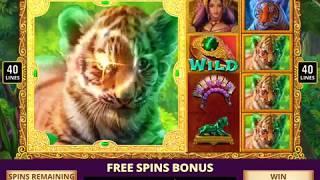 TIGER TEMPTRESS Video Slot with a TIGER TALES  FREE SPIN  BONUS
