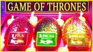 "REX & BRENT play ""GAME OF THRONES"" (MAX BET!)  Slot Machine Bonus Win Videos"