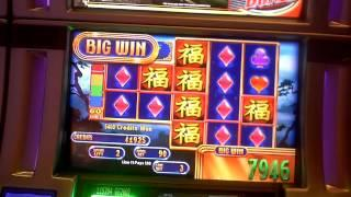 Great Wall II slot machine bonus win at Revel Casino in Atlantic City, NJ