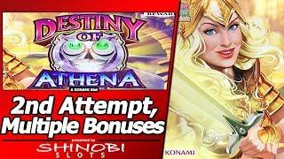 Destiny of Athena Slot - 2nd Attempt, Live Play and Multiple Free Spins Bonuses