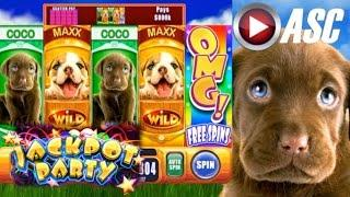 •JACKPOT PARTY CASINO FRIDAY!• OMG! PUPPIES (SG/WMS) •SLOT GAME REVIEW•