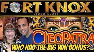 BIG WIN BONUS! CLEOPATRA FORT KNOX SLOT-POKIE