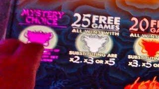 Aristocrat's 5 Dragons Slot Machine - Mystery Choice Bonus