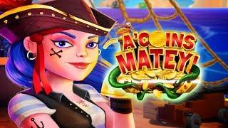 A'Coins Matey Slot - NICE SESSION, ALL FEATURES!