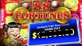 $88 A SPIN! ★ Slots ★ HIGH LIMIT JACKPOT HANDPAY!  ★ Slots ★ 88 FORTUNES ★ Slots ★ LINE HIT & BONUSE