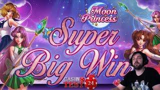 SUPER BIG WIN on Moon Princess - Star Feature - Play'n Go Slot - 1€ BET!