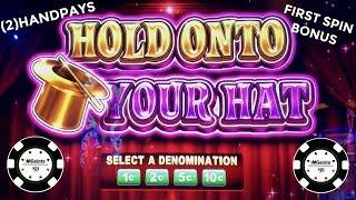 •(2) HANDPAYS LOCK IT LINK HOLD ONTO YOUR HAT •1ST SPIN BONUS/HANDPAY!