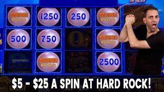 • $5 - $25/Spin at HARD ROCK • Lightning Cash = ELECTRIC Energy @ Hard Rock