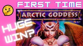 FIRST TIME!  HUGE WIN? on ARCTIC GODDESS SLOT MACHINE POKIE + BAO GONG SLOT POKIE + MORE!