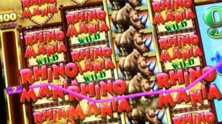 RAMPAGING RHINO | Ainsworth *NEW GAME* Slot Machine Rhino Mania Bonus