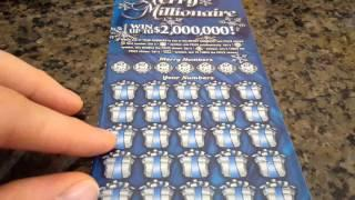 PART 3. $2,000,000 MERRY MILLIONAIRE $20 SCRATCHCARD BOOK SCRATCHING.