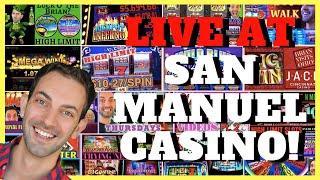 • LIVE at San Manuel Casino •️ Brian Christopher Slots • BCSlots.com