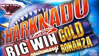 **BIG WIN!!** SHARKNADO AND GOLD BONANZA *MAX BET* SLOT WIN! - LIVE PLAY  - Slot Machine Bonus