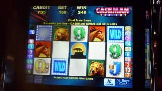 Wild Cougar Mr. Cashman Tonight Slot Machine Bonus Win (queenslots)