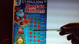 LOOK!!.Christmas Scratchcards SANTAS MILLIONS..CHRISTMAS COUNTDOWN Card..FROSTY FORTUNES